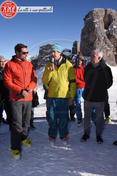 Massimiliano Ossini, Alessandro Benetton - Cortina - 12-01-2020 - Cortina, inaugurato il nuovo tracciato Lino Lacedelli