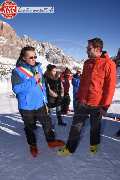 Gianpietro Ghedina, Massimiliano Ossini - Cortina - 12-01-2020 - Cortina, inaugurato il nuovo tracciato Lino Lacedelli