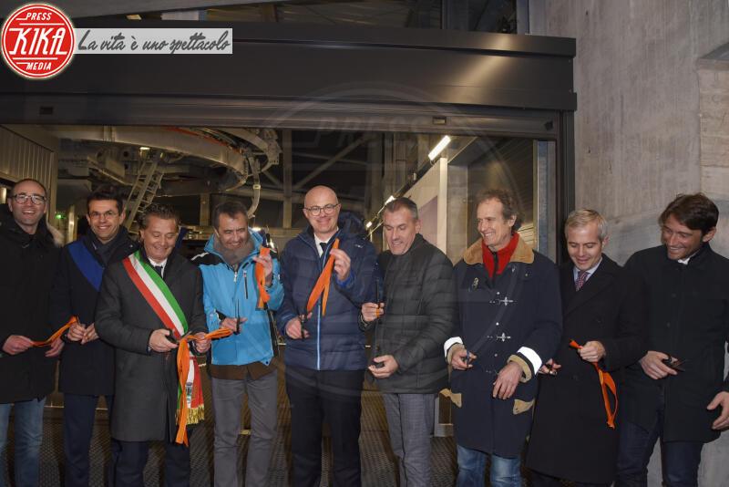 FEDERICO D INCA, Gianpietro Ghedina, Roger De Menech, Alessandro - Cortina - 12-01-2020 - Cortina, inaugurato il nuovo tracciato Lino Lacedelli