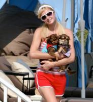 Paris Hilton - Malibu - 23-07-2007 - Anche i VIP in spiaggia con i fidati amici a quattro zampe