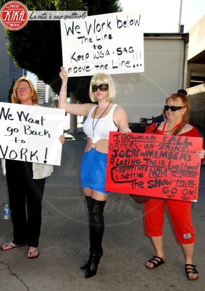 Scioperanti Wga - Beverly Hills - 13-01-2008 - Contratto tra le major e gli sceneggiatori di Hollywood