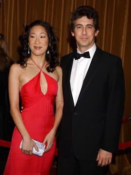 Alexander Payne, Sandra Oh - Beverly Hills - 29-01-2005 - SANDRA OH E ALEXANDER PAYNE DISCUTONO PER LA PENSIONE