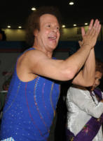 April Paul, Richard Simmons - New York - 15-05-2008 - Richard Simmons, guru del fitness, smentisce una malattia