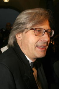 Vittorio Sgarbi - Milano - 01-07-2008 - Vittorio Sgarbi ha la meglio sulla Moratti e viene eletto sindaco in Sicilia