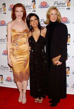 Felicity Huffman, Marcia Cross, Eva Longoria - Los Angeles - 31-03-2005 - Le attrici di Desperate Housewives ottengono un aumento, il telefilm avra' l'ottava stagione