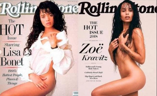 Zoe Kravitz senza veli su Rolling Stone come la madre 30 anni fa