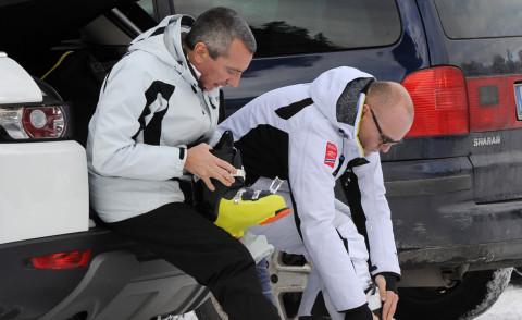 Alfonso Signorini e Paolo Galimberti, amore bianco come la neve - Foto -  Kikapress.com