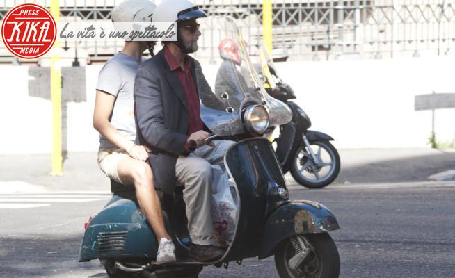 Pietro Moretti, Nanni Moretti - Roma - 13-06-2012 - Nanni Moretti torna in sella alla sua Vespa dopo l'incidente