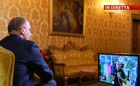 Luca Parmitano, Enrico Letta - Roma - 19-07-2013 - Letta-Parmitano, dialogo spaziale: