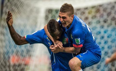 Marco Verratti, Nazionale inglese, Mario Balotelli - Manaus - 14-06-2014 - Brasile 2014: l'Italia passa contro l'Inghilterra