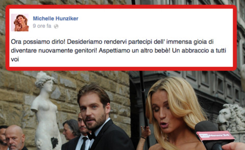 Tomaso Trussardi, Michelle Hunziker - Firenze - 07-09-2014 -