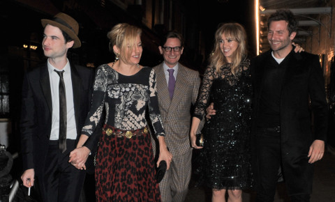 Suki Waterhouse, Tom Sturridge, Bradley Cooper, Sienna Miller - Londra - 16-09-2014 - Miller-Sturridge, Cooper-Waterhouse: la doppia coppia vince