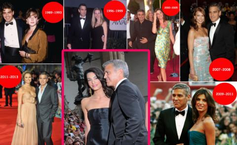 Amal Alamuddin, fidanzata, George Clooney - 25-09-2014 - George Clooney papà: tutte le ex fidanzate