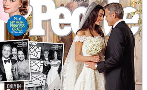 Amal Alamuddin, George Clooney - Venezia - 30-09-2014 - Amal e George: Hello! e People svelano l'abito della sposa