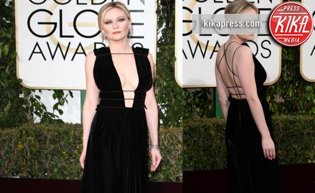 Kirsten Dunst - Golden Globe 2016: le dive fronte e retro