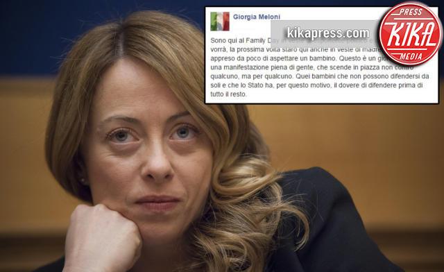 Giorgia Meloni - Roma - 30-01-2016 - Giorgia Meloni al Family Day: