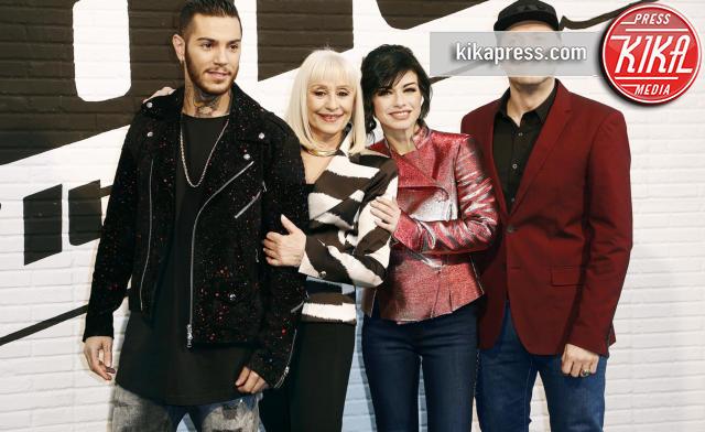 Emis Killa, Raffaella Carrà, Max Pezzali, Dolcenera - Milano - 19-02-2016 - The Voice of Italy 4: si riparte il 24 febbraio