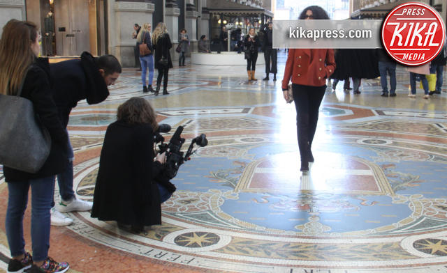 Afef Jnifen - Milano - 07-03-2016 - Afef Jnifen: una giornata da attrice