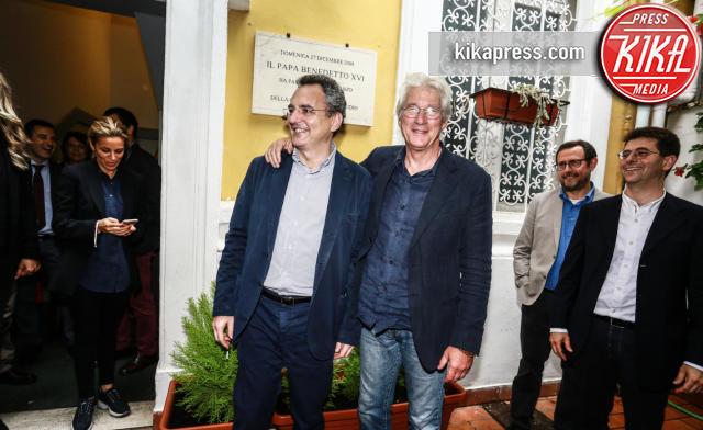 Marco Impagliazzo, Richard Gere - Roma - 07-11-2013 - Richard Gere: Gli Invisibili alla Comunità di Sant'Egidio