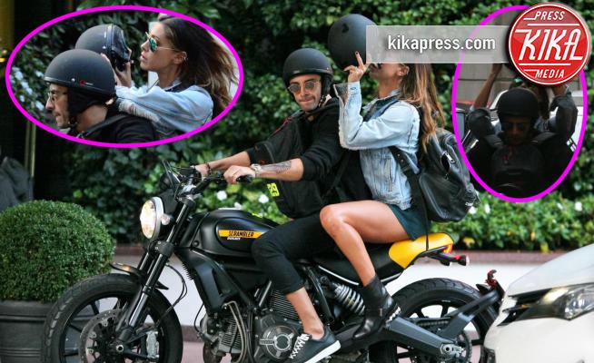 Andrea Iannone, Belen Rodriguez - Milano - 02-10-2016 - Belen Rodriguez-Andrea Iannone: due cuori, una... motocicletta