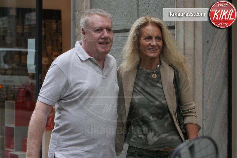 Kerima Simula, Claudio Lippi - Milano - 05-06-2007 - Claudio Lippi compra un cuore per la moglie
