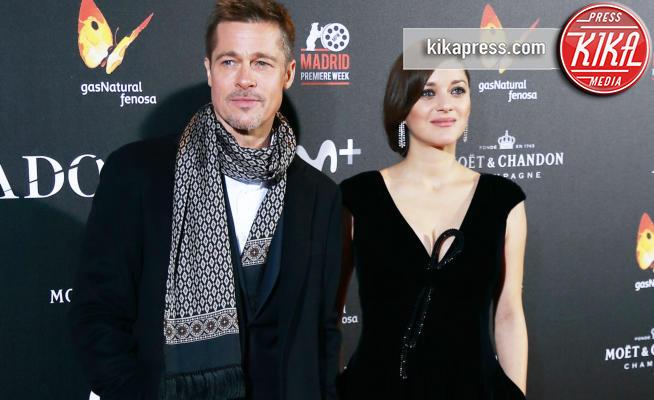 Marion Cotillard, Brad Pitt - Madrid - 22-11-2016 - Brad Pitt e Marion Cottilard insieme a Madrid