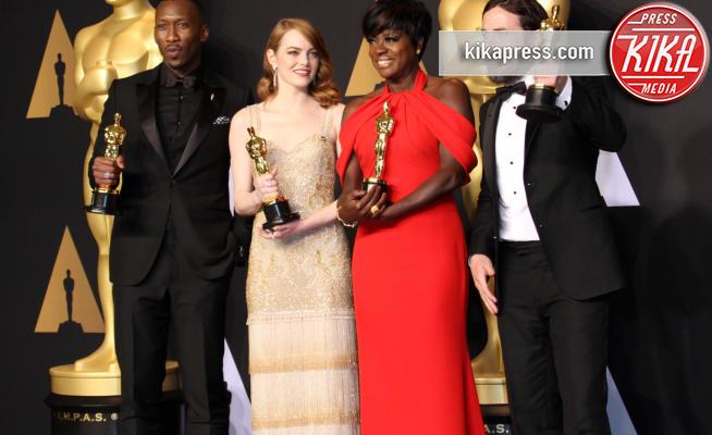 Mahershala Ali, Viola Davis, Emma Stone, Casey Affleck - Los Angeles - 26-02-2017 - Oscar 2017: tutti i vincitori degli 89esimi Academy Awards