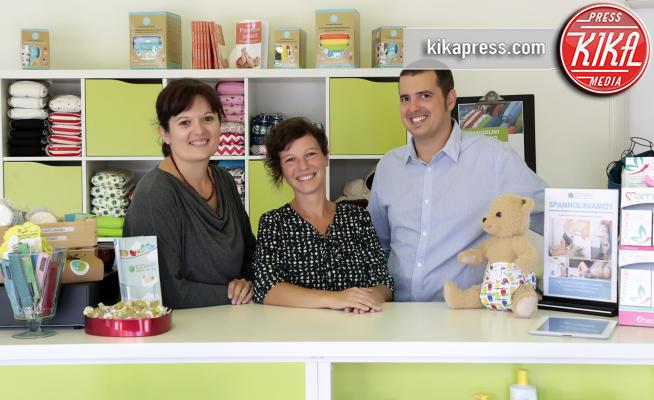 Ecobaby Store Cordenons, Sara Mandalà, Davide Coral, Azzurra Miotto - Pordenone - 08-09-2017 - Azzurra, incinta di tre mesi, assunta in un negozio per bambini