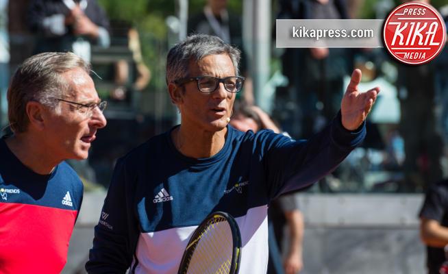 Rosario Fiorello, Paolo Bonolis - Roma - 07-10-2017 - Fiorello e Bonolis sul campo da tennis per una giusta causa
