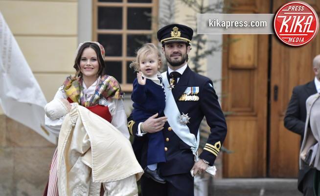 Principe Alessandro di Svezia, Principe Gabriel di Svezia, Principe Carlo Filippo di Svezia, Sofia Hellqvist - Stoccolma - 01-12-2017 - La Svezia in festa per il battesimo del principe Gabriel