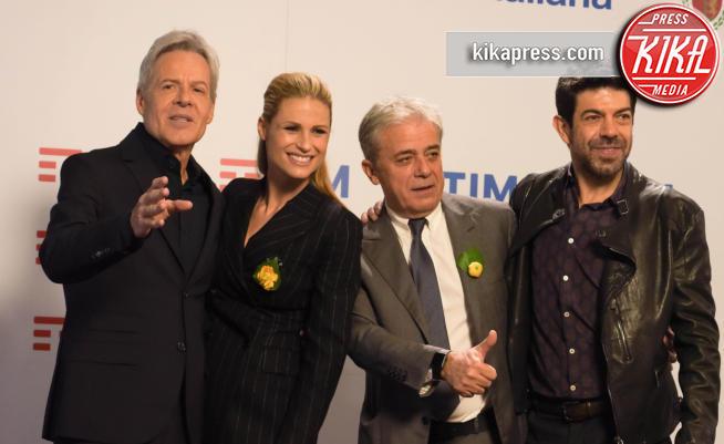 Pierfrancesco Favino, Michelle Hunziker, Claudio Baglioni - Sanremo - 07-02-2018 - Sanremo 2018, la decisione sulla squalifica di Meta e Moro