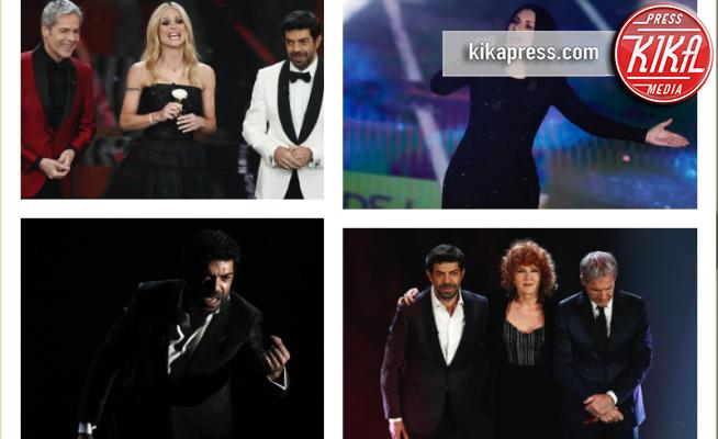 Pierfrancesco Favino, Fiorella Mannoia, Michelle Hunziker, Claudio Baglioni, Laura Pausini - Sanremo - 11-02-2018 - Sanremo, Pausini show e Favino commuove con monologo su migranti