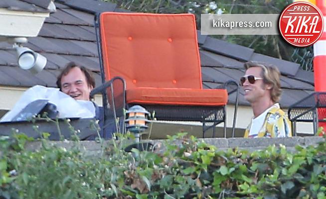 Los Angeles - 29-08-2018 - Brad Pitt e Quentin Tarantino, quante risate sul set