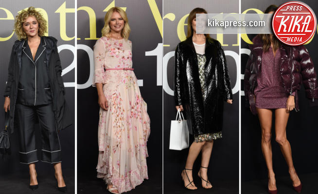 Valeria Mazza, Valeria Golino, Alessandra Ambrosio, Eva Herzigova - MFW: Valeria Golino, stile in... pigiama alla sfilata Moncler!