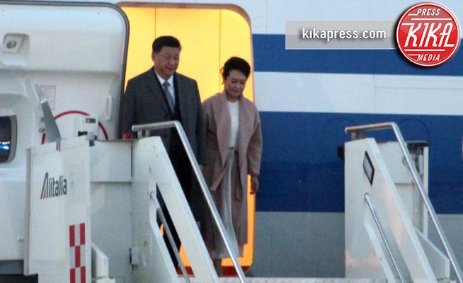 Peng Liyuan, Xi Jinping - Fiumicino - 21-03-2019 - Xi Jinping atterra in una Roma blindatissima