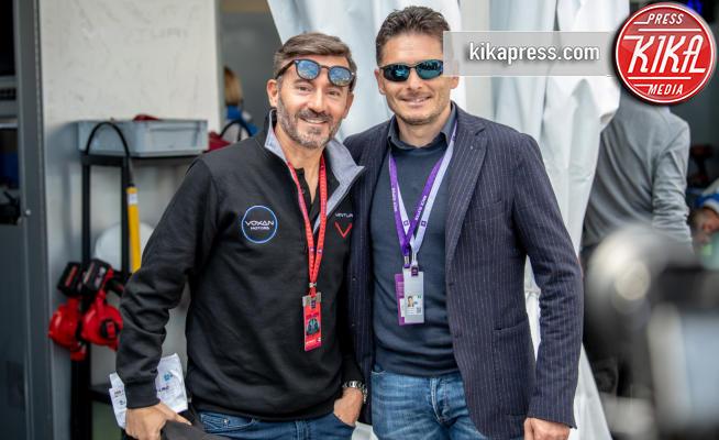 Giancarlo Fisichella, Max Biaggi - Roma - 13-04-2019 - Formula E: carambola in pista poco dopo la partenza