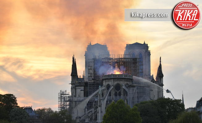 Incendio Notre Dame, Notre Dame de Paris, Notre Dame - Parigi - 15-04-2019 - Parigi, Notre Dame, incendio domato, struttura salva