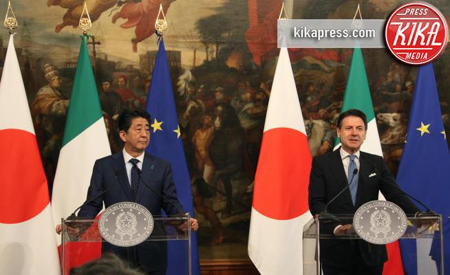 Ahinzo Abe, Giuseppe Conte - Roma - 24-04-2019 - La visita del primo ministro giapponese a Roma, le foto