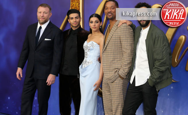 Marwan Kenzari, Mena Massoud, Naomi Scott, Guy Ritchie, Will Smith - Londra - 09-05-2019 - Aladdin, Will Smith e Guy Ritchie aprono il tour a Londra