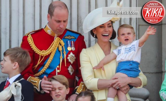 Principe Louis Arthur Charles, Principessa Charlotte Elizabeth Diana, Principe George, Principe William, Kate Middleton - Londra - 08-06-2019 - Trooping the colour, è Louis la vera star della festa!