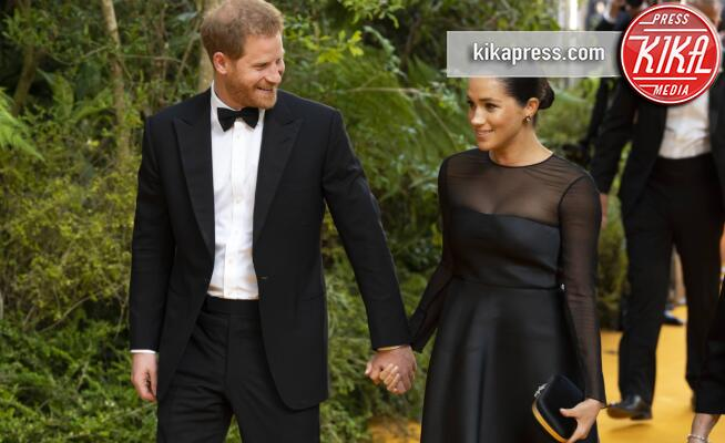 Meghan Markle, Principe Harry - Londra - 14-07-2019 - Harry e Meghan alla premiere europea de Il Re Leone
