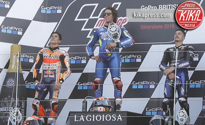 Maverik Vinales, Alex RINS, Marc Marquez - Silverstone - 25-08-2019 - Moto GP, a Silverstone Rins beffa Marquez nel finale