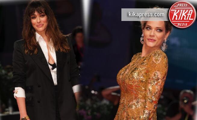 Valentina Lodovini, Laura Chiatti - Venezia - 02-09-2019 - Venezia 76: Filming Italy, Lodovini madrina, Chiatti dorata