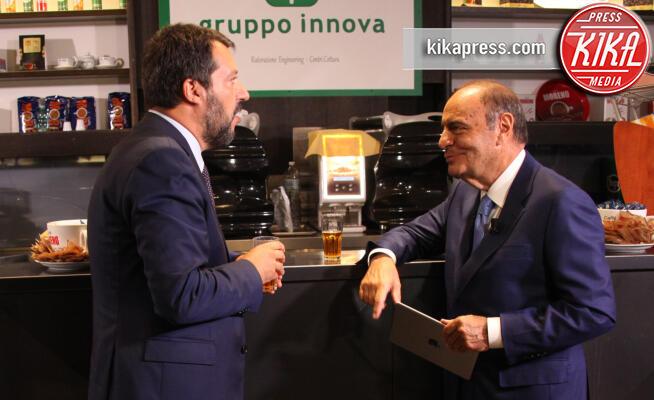 Matteo Salvini, Bruno Vespa - Roma - 10-09-2019 - Porta a Porta, la prima puntata con Salvini è quasi flop
