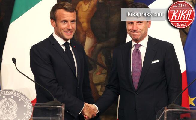 Giuseppe Conte, Emmanuel Macron - Roma - 18-09-2019 - Giuseppe Conte incontra Emmanuel Macron a Palazzo Chigi