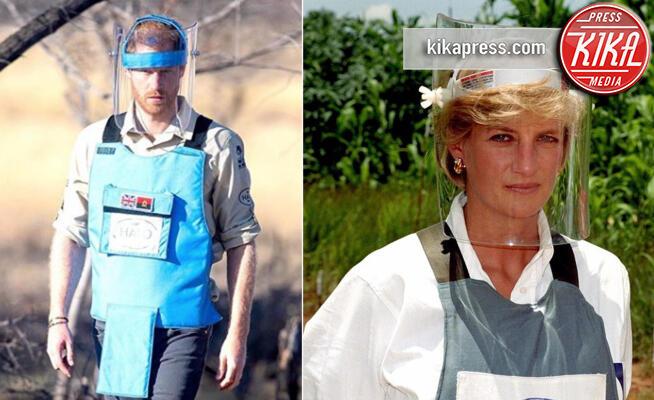 Lady Diana, Principe Harry - 27-09-2019 - Il principe Harry nel campo sminato come la madre Diana