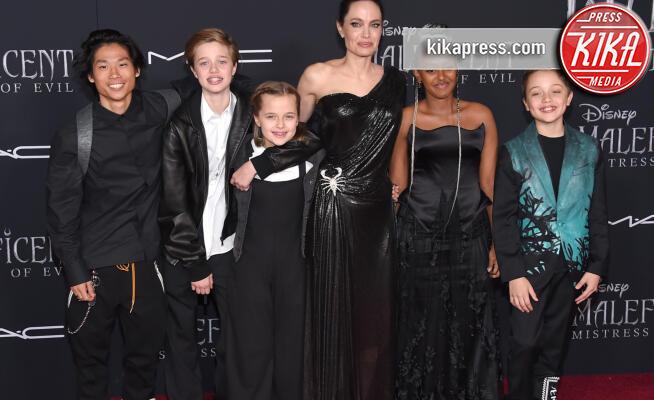 Pax Jolie-Pitt, Vivienne Jolie-Pitt, Shiloh Jolie-Pitt, Angelina - Hollywood - 31-10-2019 - Maleficent 2: premiere di famiglia a Hollywood