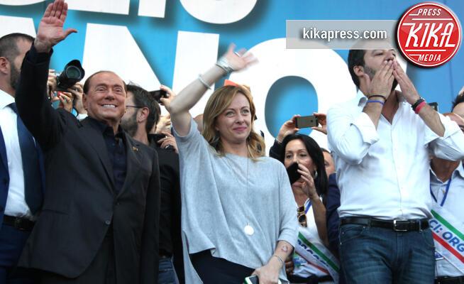 Giorgia Meloni, Matteo Salvini, Silvio Berlusconi - Roma - 19-10-2019 - Salvini, Meloni e Berlusconi insieme contro il Governo Conte