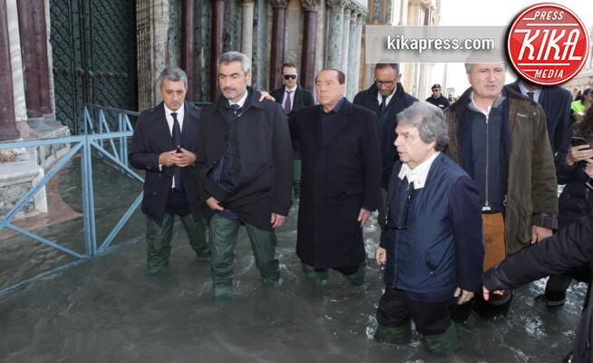 Luigi Brugnaro, Renato Brunetta, Silvio Berlusconi - Venezia - 14-11-2019 - Alluvione a Venezia, Silvio Berlusconi reclama il Mose
