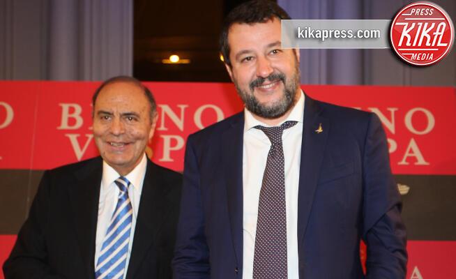 Matteo Salvini, Bruno Vespa - Roma - 20-11-2019 - Bruno Vespa presenta il libro sul fascismo, con lui c'è Salvini